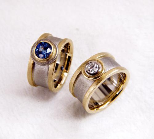 2 Ringe PD AU Safir-Brill