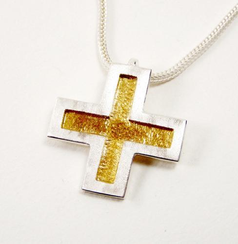 Kreuz GOLD vertieft